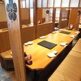 大人数でもご利用可能なテーブル席をご用意!仕切りがあるのでまわりを気にせずゆっくりできます♪海鮮居酒屋 はなの舞 蓮田西口店