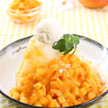 料理メニュー写真マンゴーミルクかき氷(季節メニュー)