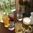 飲み放題メニューは、ザ・プレミアム・モルツにワイン、焼酎、チューハイ、日本酒、梅酒、ハイボールと豊富。芋焼酎は5~6種からお選びいただけます!様々な好みのお客様にご対応可能!「梅酒が無かった」「生ビールじゃなかった」などのご心配無用で、会社宴会などに最適です!