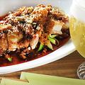 料理メニュー写真よだれ鶏(四省料理・茹でた鶏に辛味ソース)