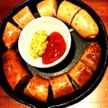 料理メニュー写真2種フランクフルトソーセージのグリル