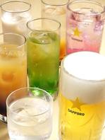 飲み放題付きコース3500円(税別)!歓送迎会や女子会に