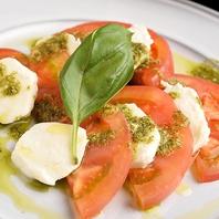 水牛モッツァレラとフルーツトマトのカプレーゼ
