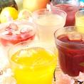 飲み放題のドリンクも種類豊富な200種類以上なので選びたい放題です♪単品焼酎や地酒などをあわせると200種以上!!