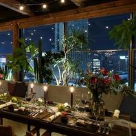 ライブ感あるカウンター席~夜景の見えるテラス席など。