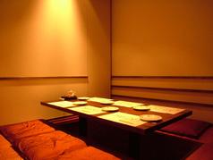 完全個室!さらに掘りごたつになっているので、周りを気にせずリラックスしてお食事を楽しめます♪1組限定となっておりますので、お早めにご予約を♪