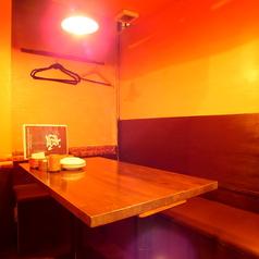 半個室タイプのテーブル席もご用意♪周りの目を気にせず、素敵な時間をお過ごしください!!