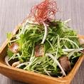 ラムチップと水菜のハリハリサラダ:650円