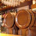 【樽生ワイン】イタリア・フランス直送!赤ワイン2種、白ワイン2種、スパークリングワイン2種と全部で6種類を常時ご用意。石川県で6種類飲めるのはここだけ!新鮮なワインの香りをお楽しみ下さい。樽生ワイン飲み放題プラン90分(L.O.70分)1800円(税抜)
