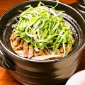 料理メニュー写真九条ネギとサーロインの土鍋ごはん 2合(3~4人前)