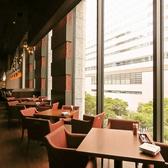 横浜の街が見える窓際のお席