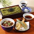 料理メニュー写真選べる!そばと小うな丼膳(天ぷら付き)