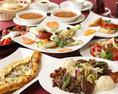 【ファティフコース】全9品5000円(税抜)★トルコ風ピザや3種のケバブなど本格トルコ料理をお楽しみいただけます。 +1250円、もしくは1500円で2H飲み放題追加OK♪