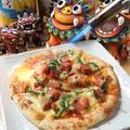 料理メニュー写真スパムとゴーヤの沖縄ピザ