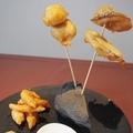 料理メニュー写真フランス風天ぷら3種