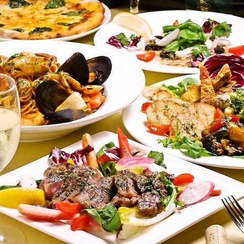 当店はコースが断然お得です♪自由に選んで本格イタリア料理を楽しんで下さい!!