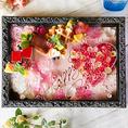 【誕生日・記念日特典】先着5組様にホールケーキを無料プレゼント♪更に+1000円でアートボックスプレートにランクUPOK♪キレイに装飾されたボックスがデザートプレートを彩ります♪