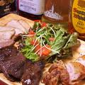 料理メニュー写真究極の肉バルコース【肉盛り】ポークソテー~わさび添え~/チキンソテー~マスタード添え~/たれ焼きハラミ