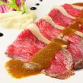 料理メニュー写真国産牛のローストビーフ