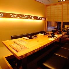 和を感じる上質な空間。完全個室は接待やデート、大切な宴会におすすめ。