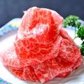 料理メニュー写真レアステーキ薄切り(霜降り)