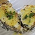 料理メニュー写真牡蠣とホウレン草のクリームグラタン (1個)