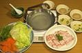 料理メニュー写真さっぱり梅ゴマ&出汁タレ豚シャブ(一人前)