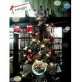 クリスマスシーズンに登場するお好み焼や食べ物、飲み物などの飾りがついたツリー