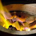 常に七輪に炭火をご用意しております!上質な和牛は、炭火でさっと一炙り!炭火で一気に表面を焼きあげることで、素材の持つ旨味をギュッと閉じ込めた逸品に仕上がります☆余計な脂分を落とし、旨味をさらに引き出した、絶品肉をご堪能あれ♪