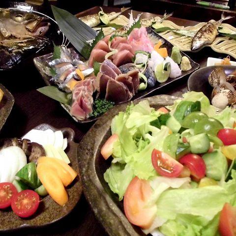 ●仕入れ状況によって内容が変わる料理のみ8〜9品のコース!3000円●
