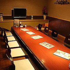 会社宴会、親睦会等各種ご宴会にご利用いただける掘りごたつ席ご用意!