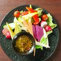 料理メニュー写真野菜ソムリエ厳選の彩りバーニャカウダ