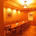中個室は32名様まで宴会可能です!
