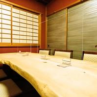 接待や会食に使える個室席完備は最大6名様まで