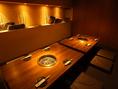 6名様迄の掘りごたつ式完全個室(写真は8名様席です)