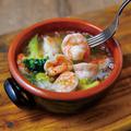 料理メニュー写真海老とブロッコリーのアヒージョ
