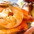 料理メニュー写真海鮮四種(海老、タコ、イカ、ホタテ)ガーリックバター焼き