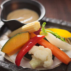 料理メニュー写真バーニャカウダー 西京味噌味
