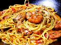 料理メニュー写真なんばん海老のトマトクリームスパゲッティ