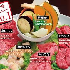 焼肉大皿盛 2~3名 約400g/3~4名 約800g 塩・タレ