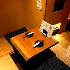 全席掘りごたつのメインフロアは、テーブル席とカウンター席で構成されております!渋谷の街を力強く華やかにしたいという願いを込めて高級和食をリーズナブルにをモットーに元気に営業しております★身も心も充実したひとときをお過ごし下さい♪