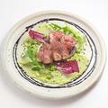 料理メニュー写真【ヤマト豚のグリルバルサミコソース練豆のピュレゾエ】