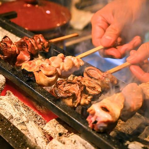 【25名様~30名様貸切OK☆】厳選鶏の串焼き・野菜巻き串など種類豊富に取り揃え!