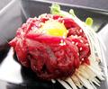 料理メニュー写真桜肉のユッケ