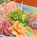料理メニュー写真鶏のたたき3種盛り