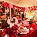 スタイリッシュな店内は誕生日シーンにもぴったりです!個室は2名様から20名様までお使い出来ます、!またそれ以上の場合は貸切になります。お気軽にお問い合わせ下さい。【 心斎橋 難波 イタリアン 女子会 チーズ 誕生日 ラクレット チーズタッカルビ テーブルアート】