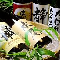 飲み放題コースには厳選信州地酒5種付き!