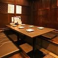 6名様掘りごたつ席は、ご友人とのご宴会や、会社の同僚とのご宴会にも最適です。