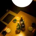 美味しいお食事とお好みのお酒にご友人や会社の方との大切な時間を。