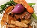 料理メニュー写真★【栃の木黒牛】イチボ肉のステーキ お好み農園野菜